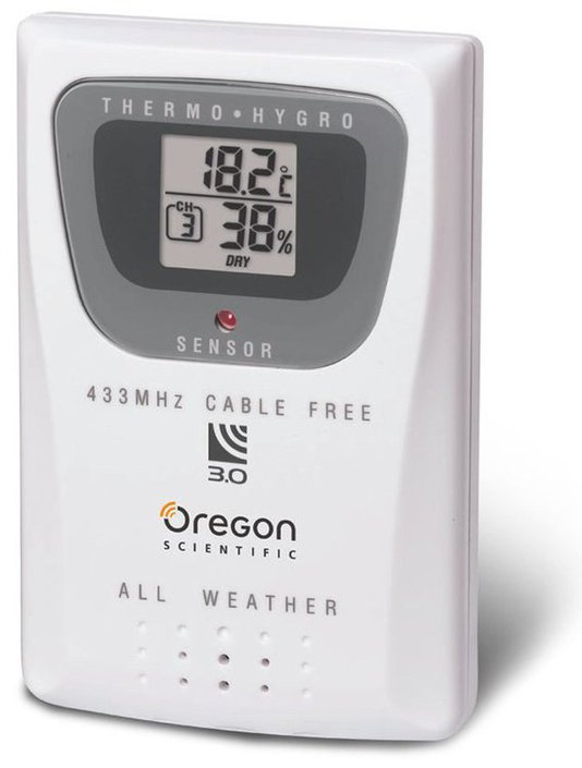oregon scientific thermo sensor 433mhz cable free manual