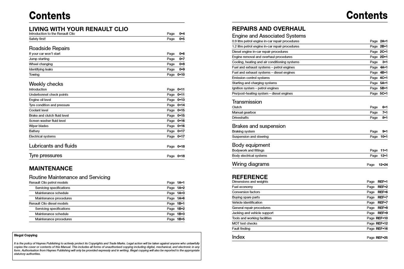 haynes manual download renault clio