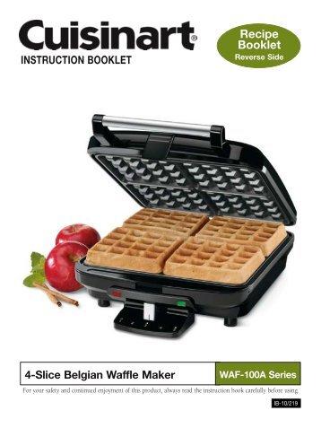 cuisinart round belgian waffle maker instruction manual