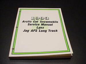 92 arctic cat jag repair manual