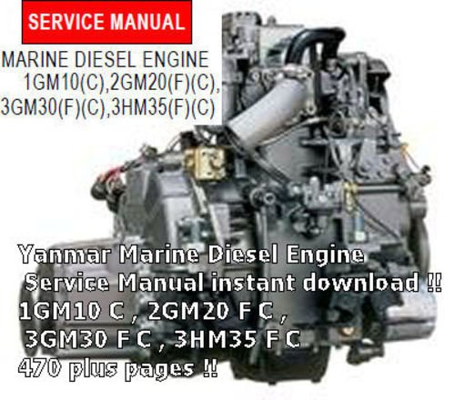 repair manual for a yanmar 2gm20 f engine 1985