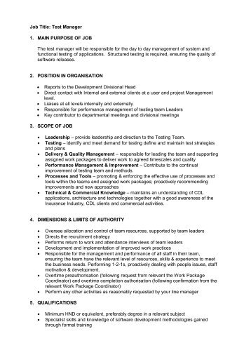 manual testing qa manager jobs