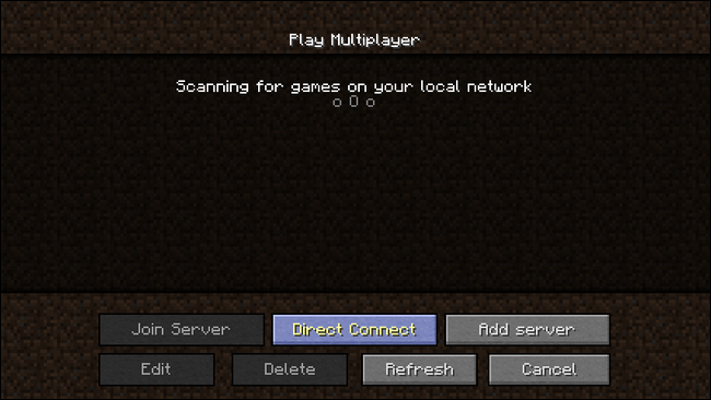 manually connect to lan game minecraft