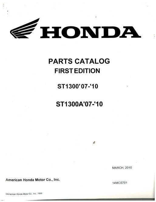 free honda st1300 repair manual