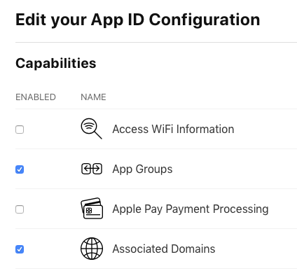 com.apple.developer.associated-domains manually