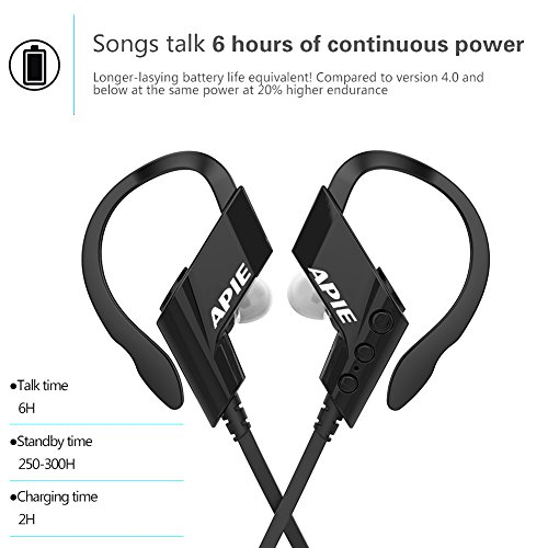 apie sports bluetooth headphones wireless manual