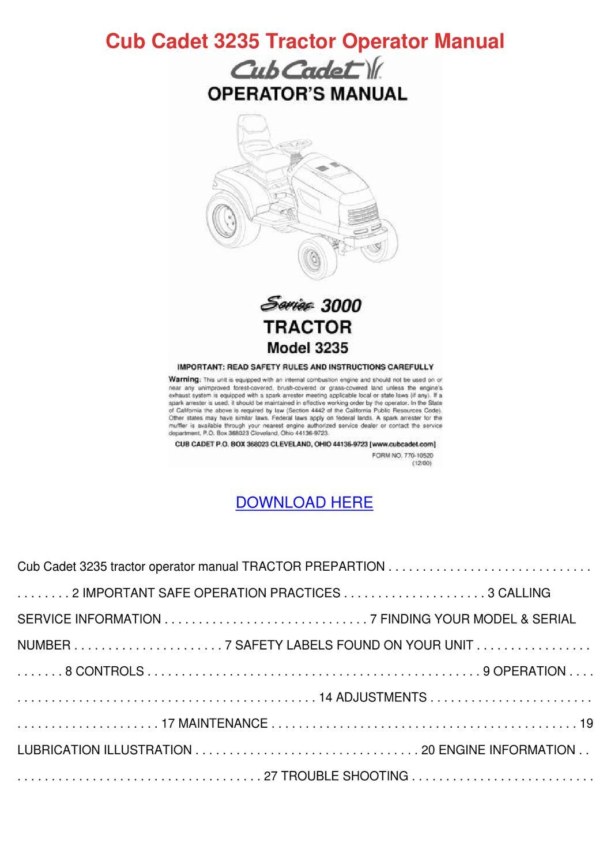 cub cadet 13a726jd596 engine manual