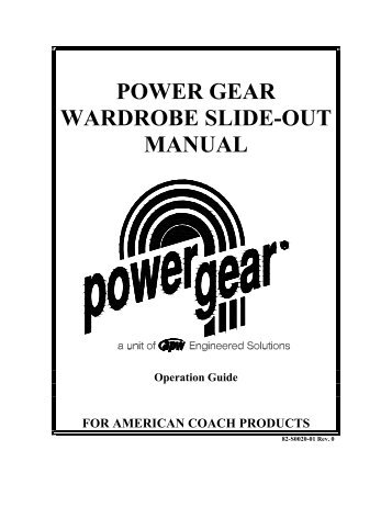 power gear slim rack manual