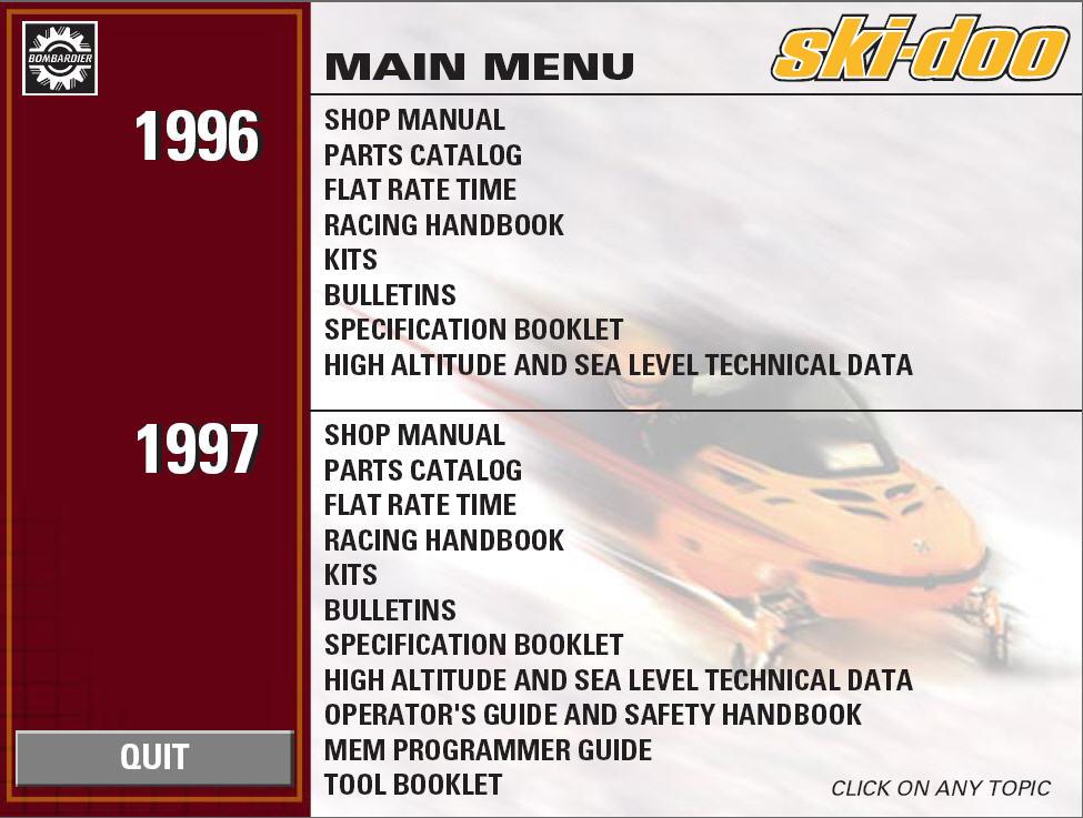 1965 ski doo parts manual
