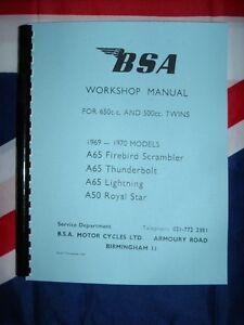 1969 bsa a65 workshop manual