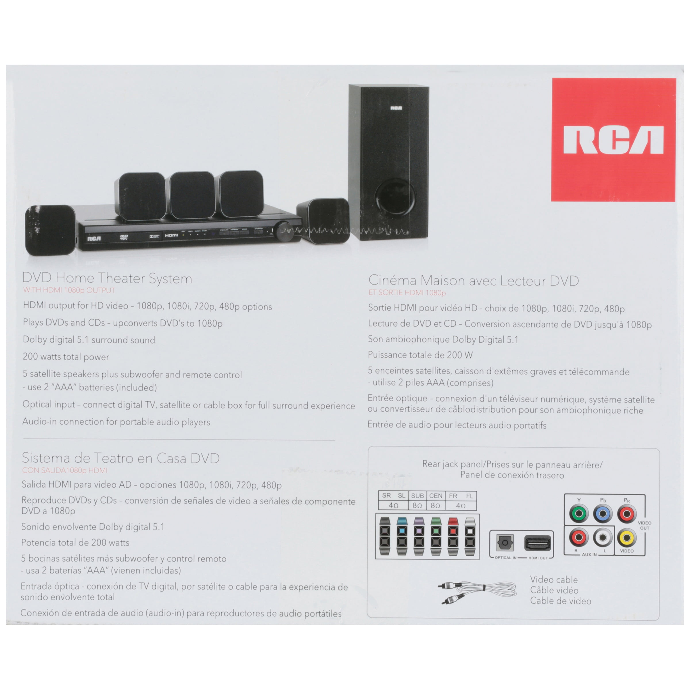 rca 200w dvd home theatre system manual