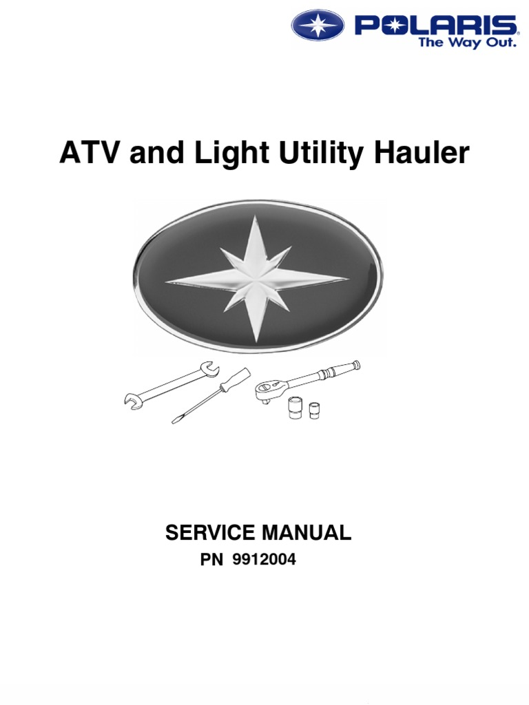 1985-1995 polaris atv service manual repair all models