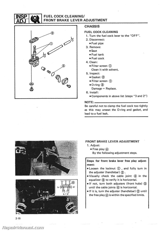 1987 yamaha 350 moto 4 manual