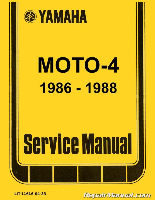 1990 yamaha moto 4 250 owners manual