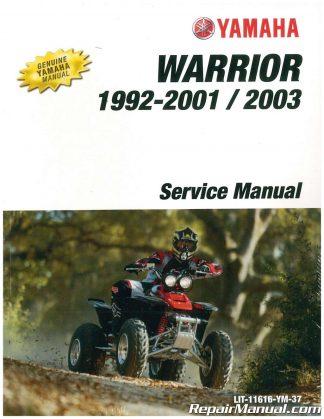 2003 yamaha warrior 350 owners manual