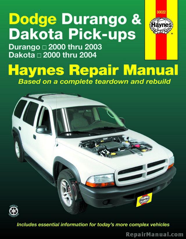 2001 dodge durango sport owners manual
