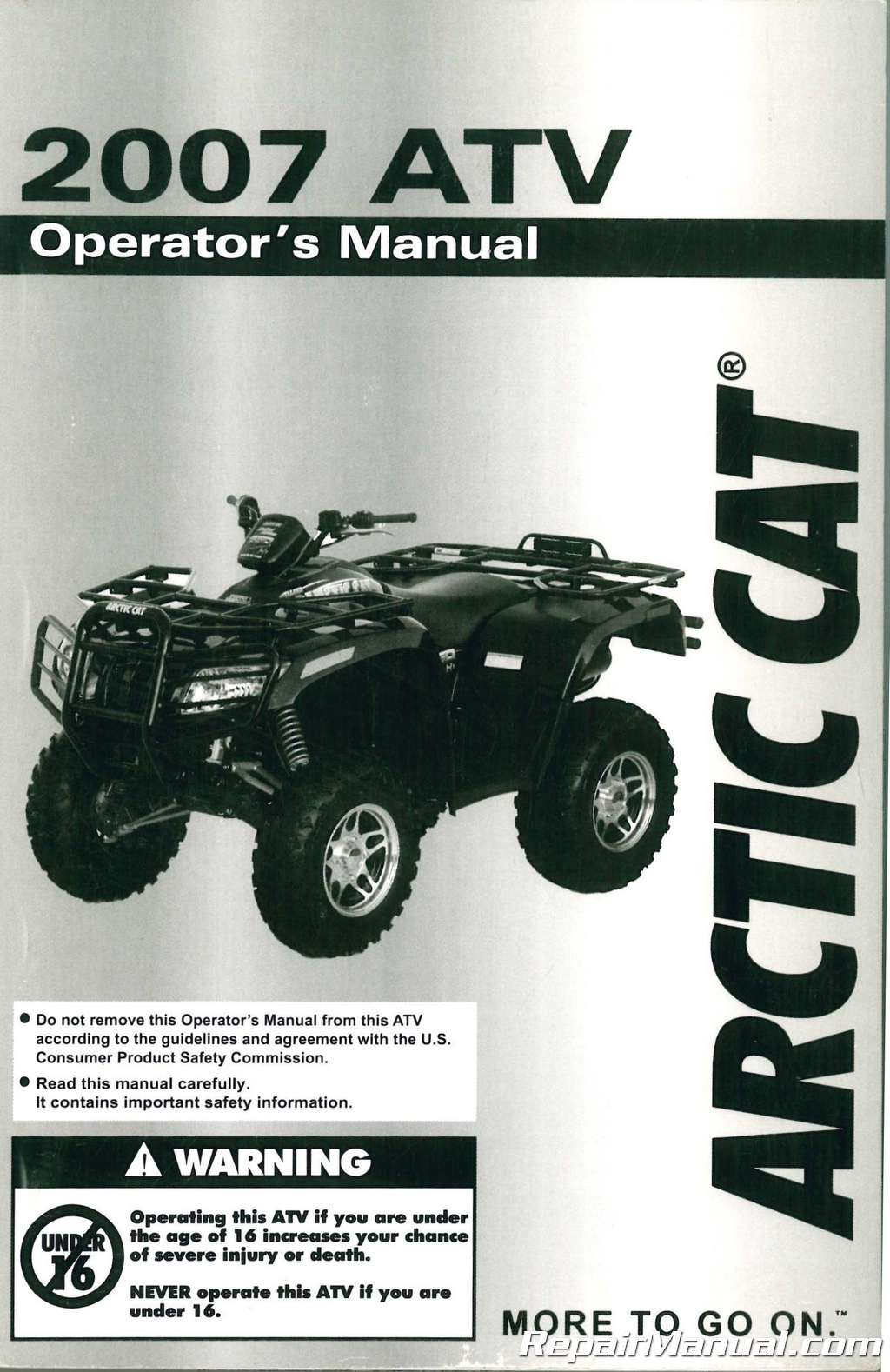 2003 arctic cat atv user manual
