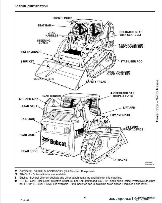 2007 bobcat t190 service manual