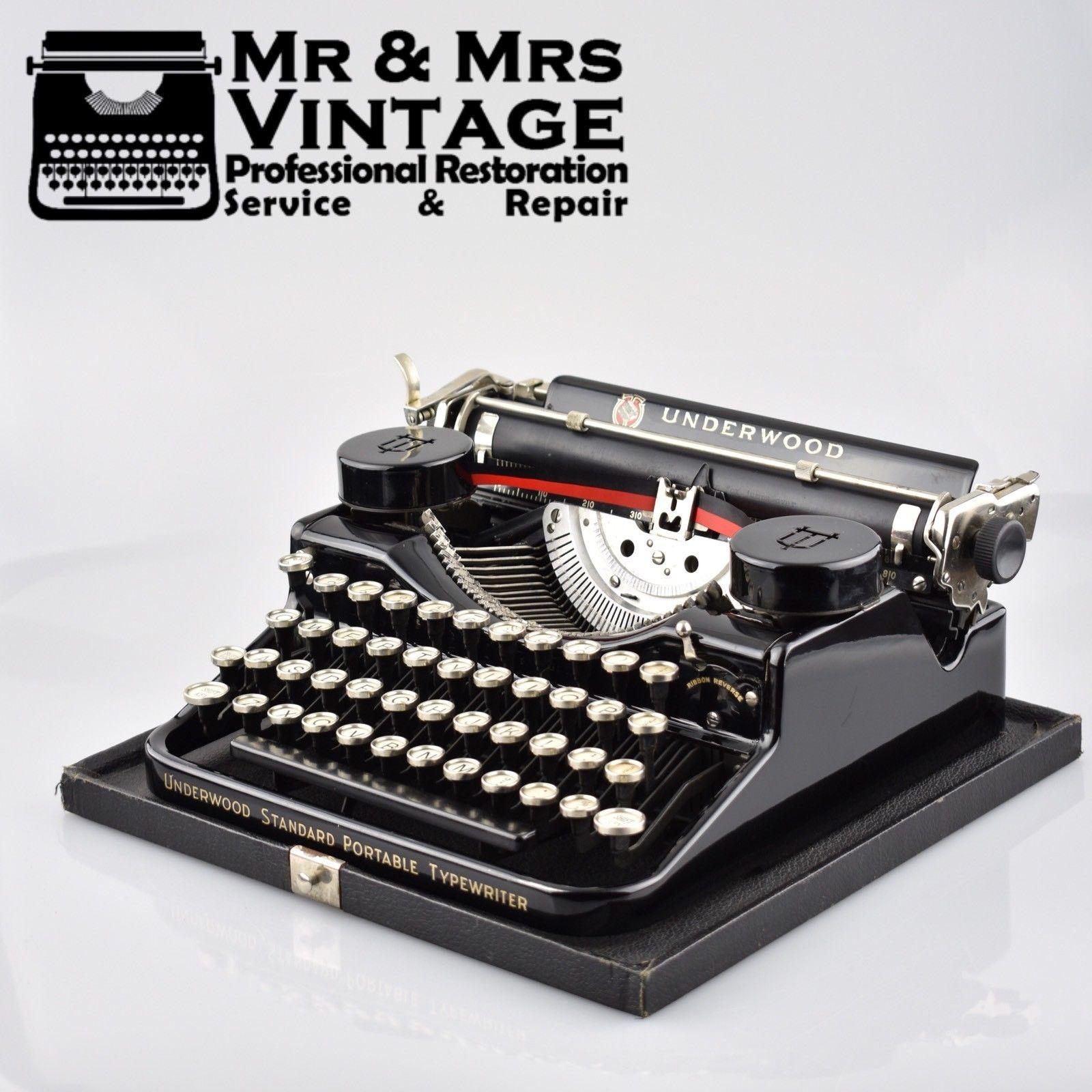 underwood 18 portable manual typewriter