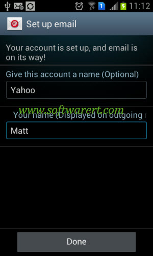 how to manually add email to android