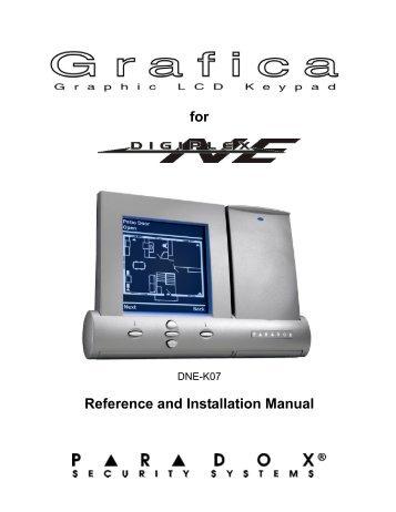 paradox security systems esprit manual