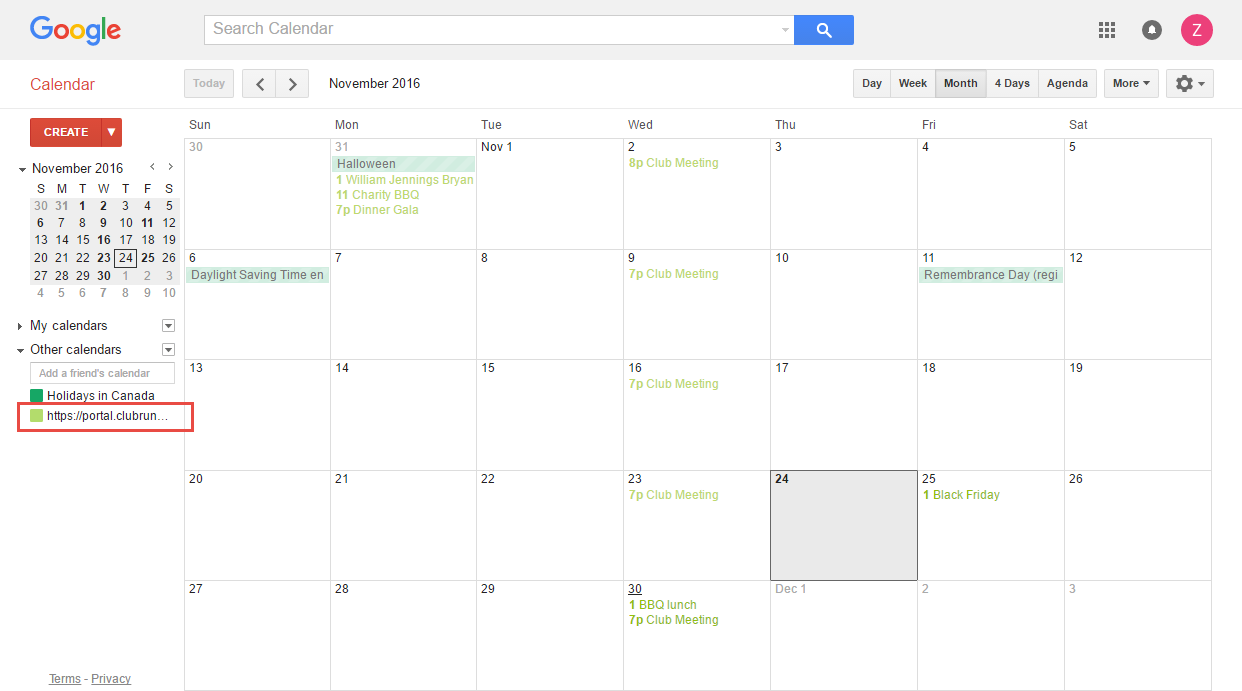 how to manually add calendar in other calendars