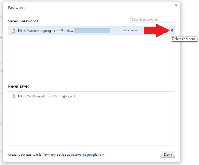 manually make chrome to save password