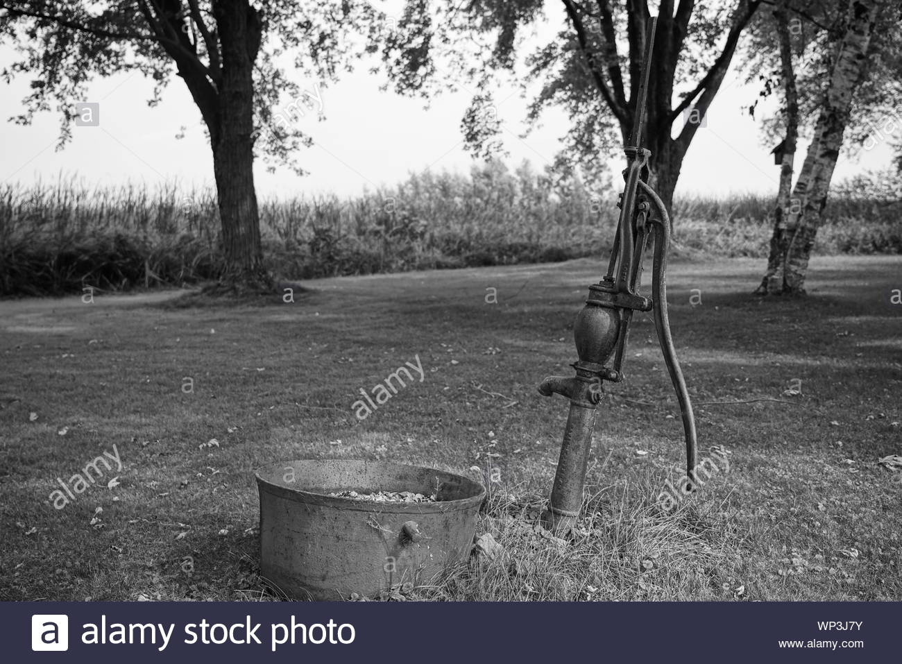 old farm manual hand operated water pump