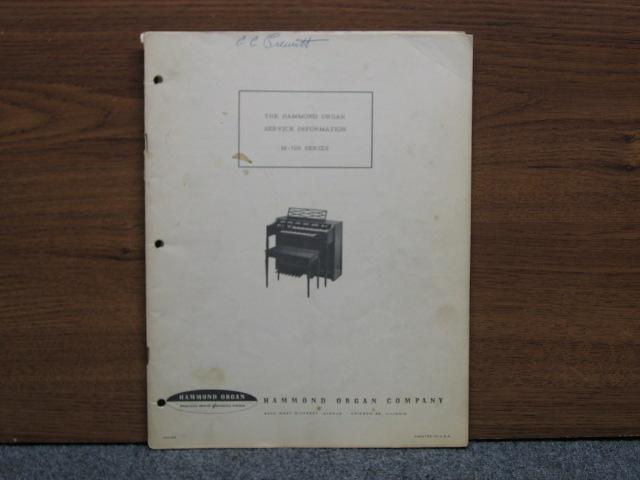 hammond organ l100 service manual
