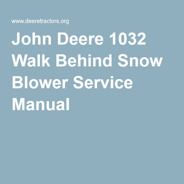 john deere lx280 snowblower manual
