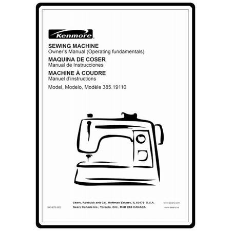 kenmore 385 17924090 user manual