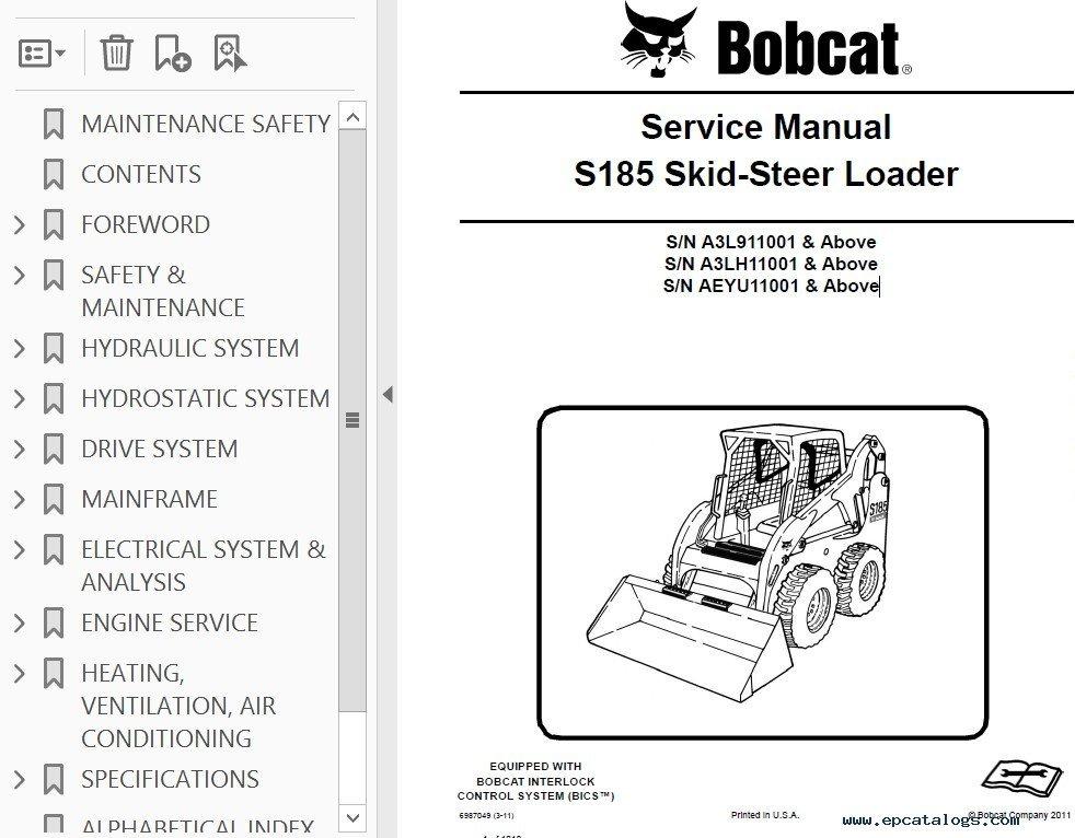 service manual for bobcat 753 skid steer loader