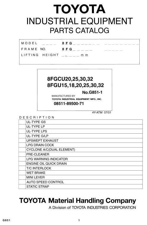 toyota 52-6fgu30 manual oil