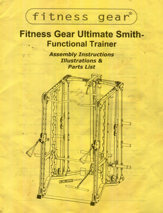 fitness gear ultimate smith functional trainer manual