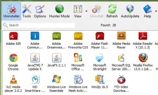 windows 7 how to manually uninstall a program