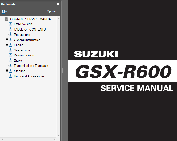 suzuki gsxr 600 parts manual