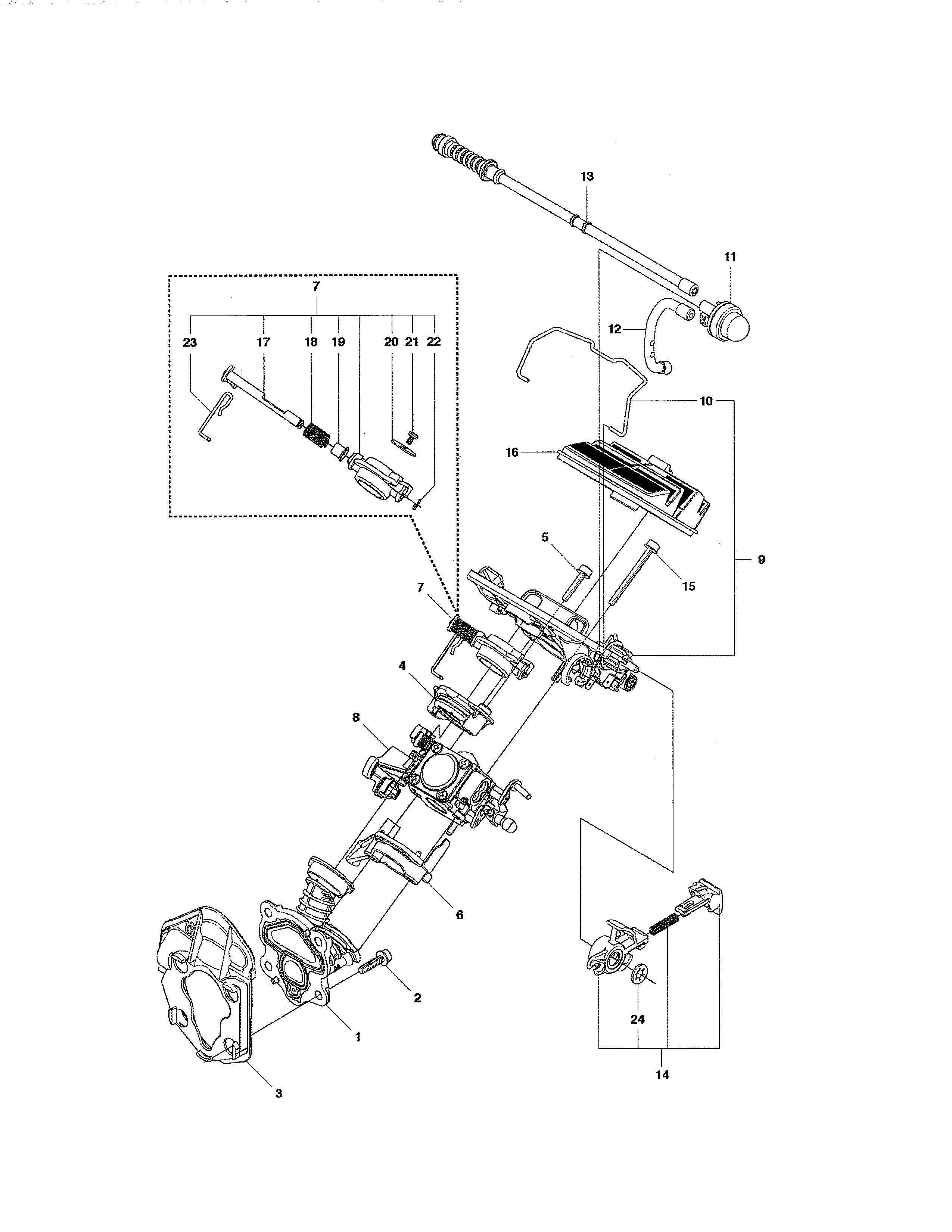 husqvarna 235 chainsaw parts manual