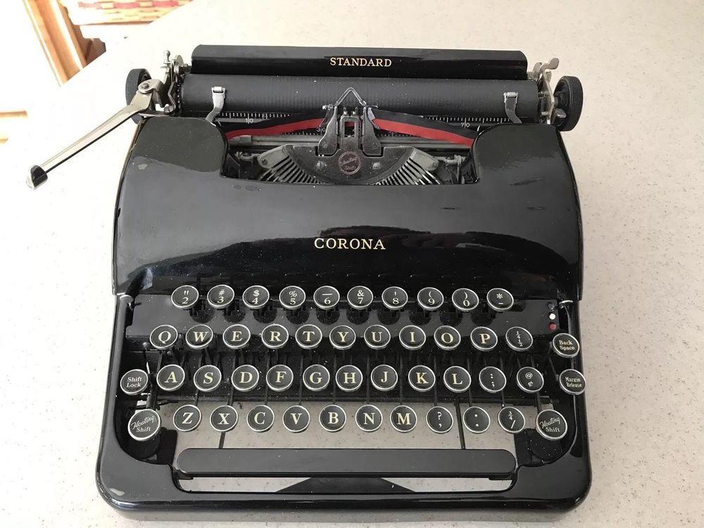 smith corona scm corsair portable manual typewriter