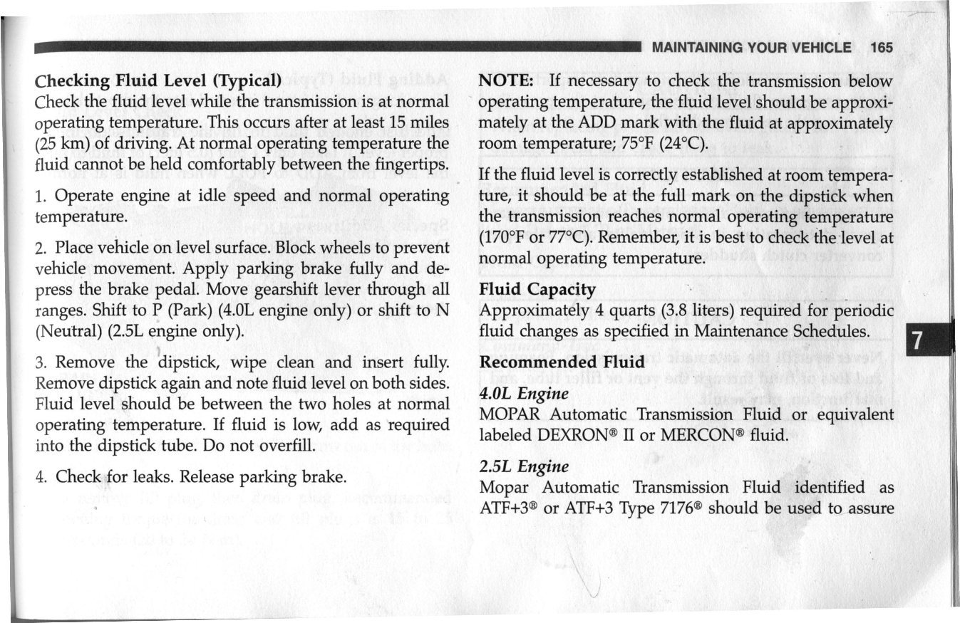 owners manual says dexron iid atf