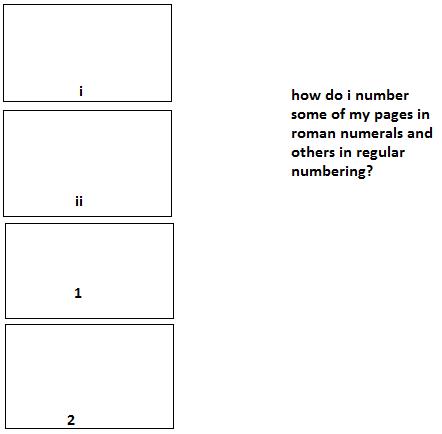 microsoft word manual page numbers