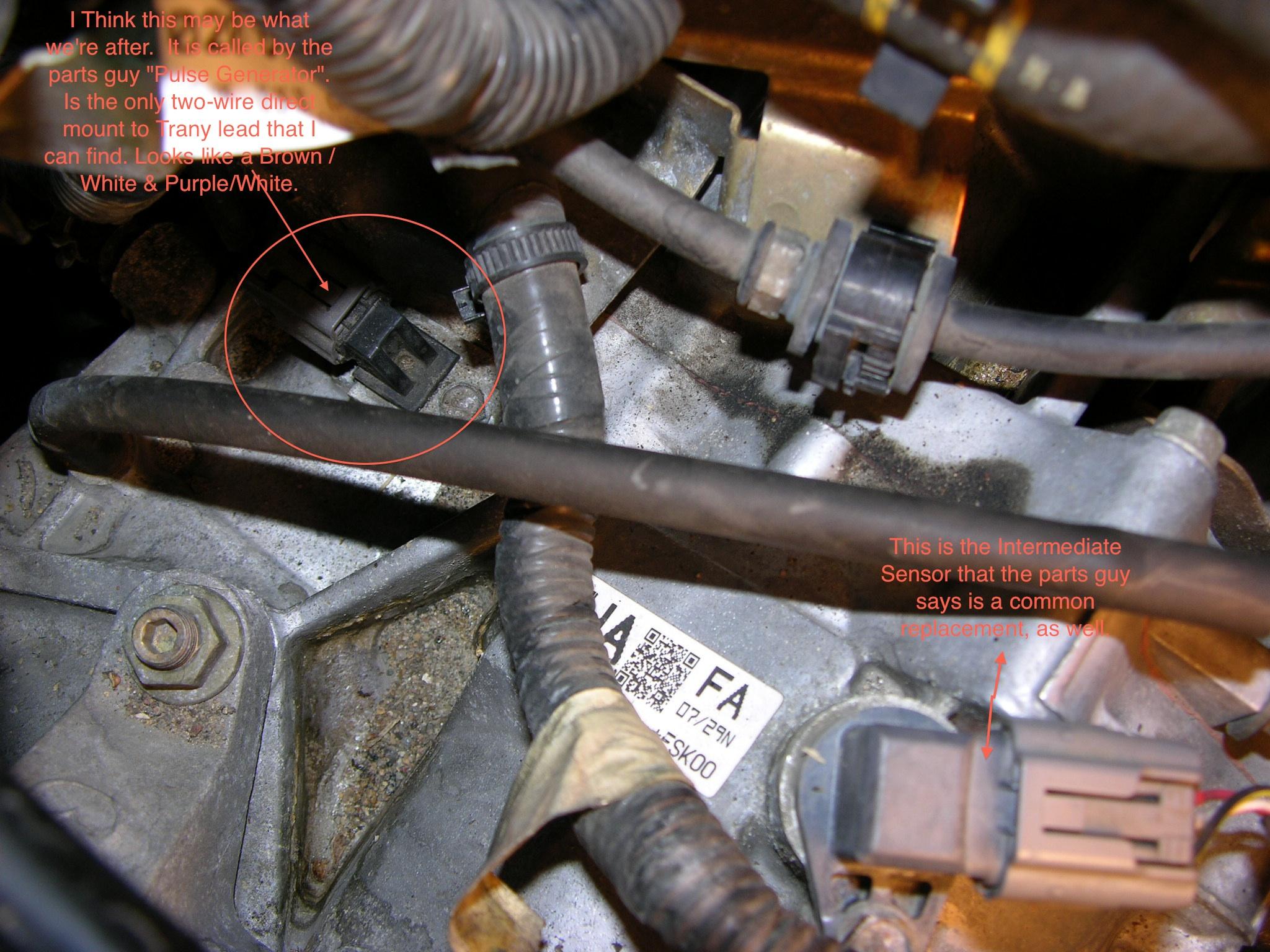2005 sprinter manual transmission speed sensor