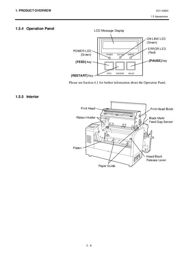 toshiba tec label printer manual