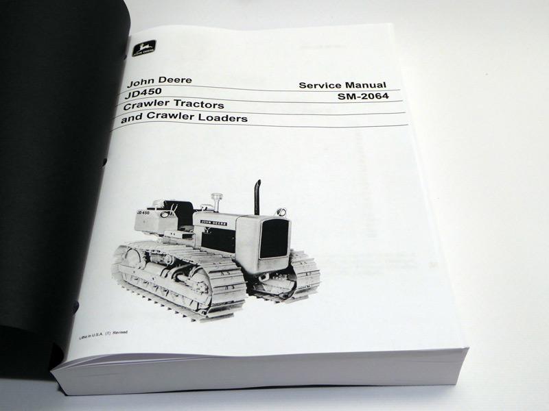john deere 450 b dozer manual pdf