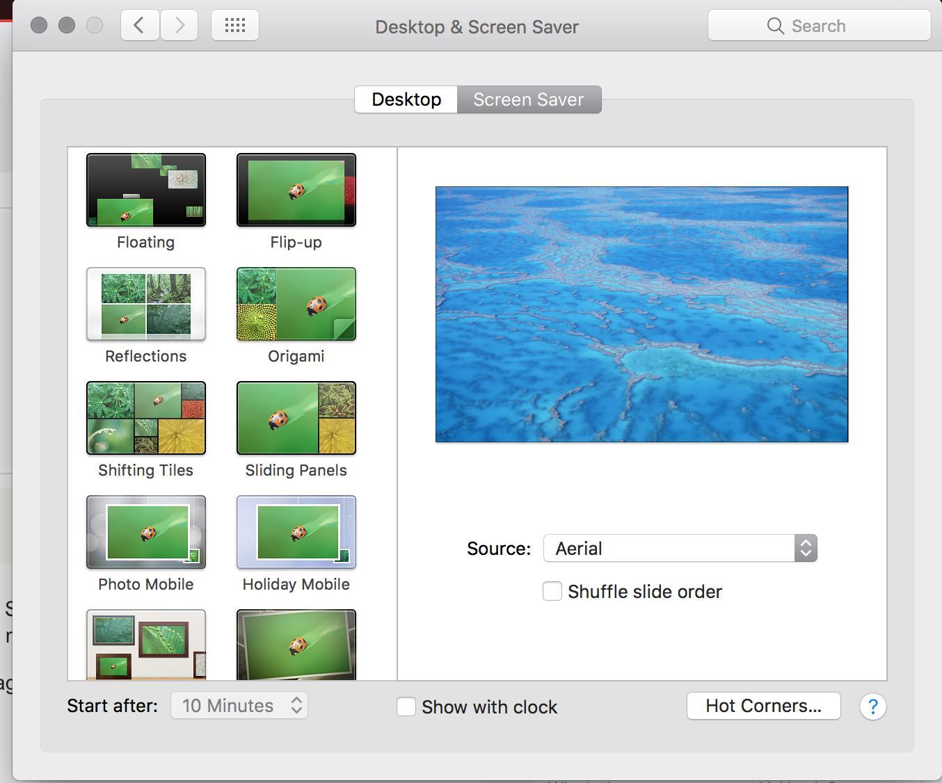how do i manually enable a screensaver