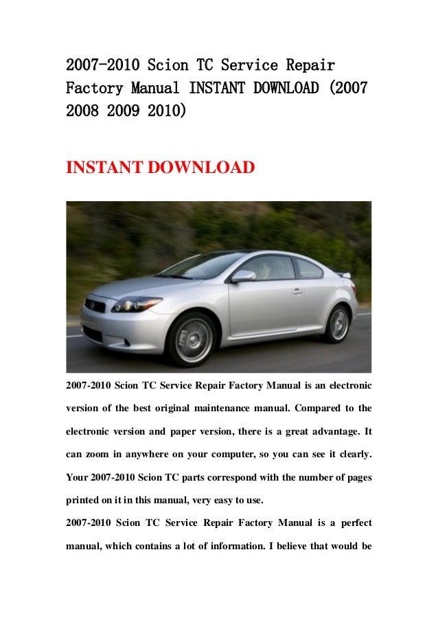 2007 scion tc manual review