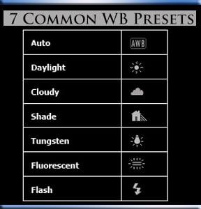 preset manual for white balance
