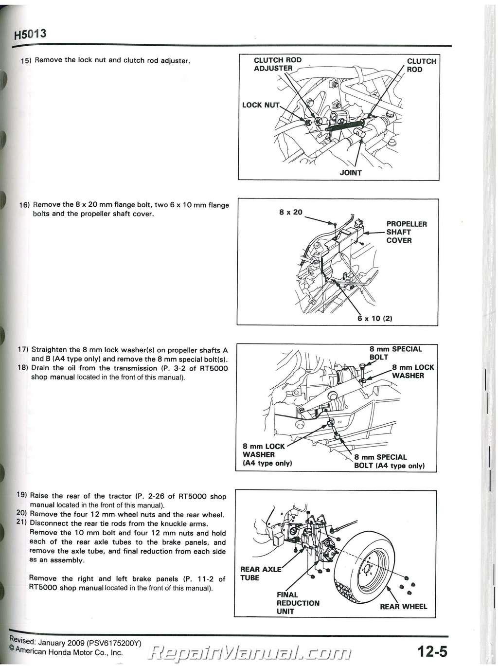 honda 9.9 babj shop manual