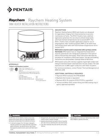 raychem underfloor heating thermostat manual