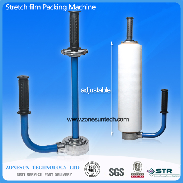 manual containers film lid packing machine