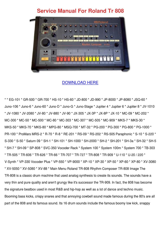 roland eg 101 manual pdf